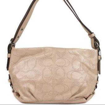 COACH Perforated Leather Duffle Handbag