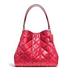 COACH PHOEBE SHOULDER BAG IN QUILTED LEATHER รุ่น 36696 - Classic Red