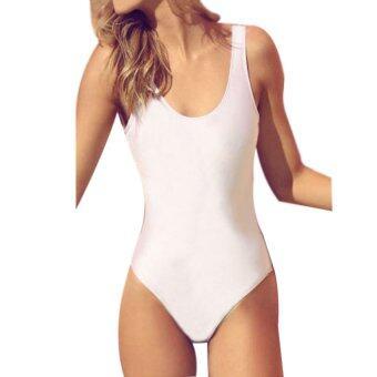 Cocotina ผู้หญิงเซ็กซี่ครบ Bikini Monokini เดินเปลือยหลังชุดว่ายน้ำชายหาดชุดว่ายน้ำ-ขาว-ในประเทศ