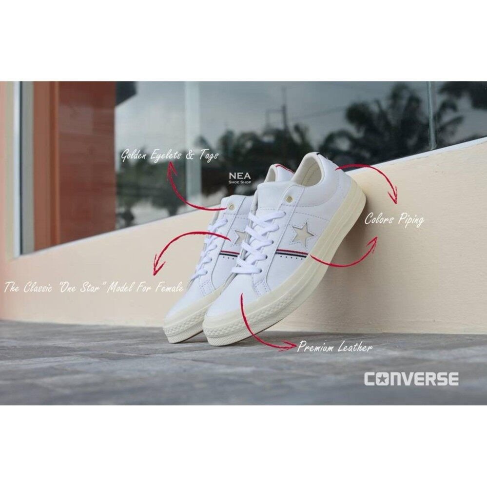 ชัยนาท Converse One Star (Leather) Piping ox White.