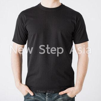 เสื้อดำ เสื้อยีดดำ เสื้อยืดสีดำ คอกลม เสื้อยืดคอกลม cotton 100%สีดำ