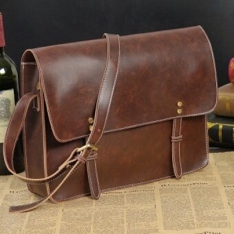 Crazy Horse Leather Men Bag leather handbag laptop men's briefcase tote men messenger bags shoulder mens