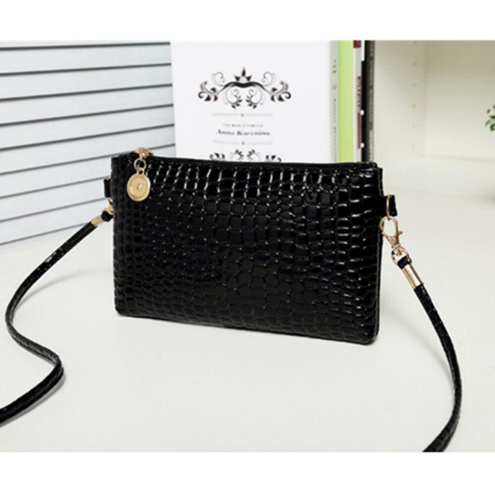 กระเป๋าถือ นักเรียน ผู้หญิง วัยรุ่น ตรัง Crvid shop Fashion Small Bag Women Messenger Bags Soft PU Leather HandbagsCrossbody Bag Black