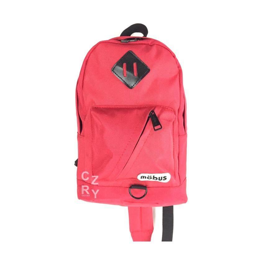 CRZY.BKK กระเป๋าสะพายหลัง สะพายข้าง MOBUS UNISEX รุ่น A015 สี BLUE (มีหลายสีให้เลือก)