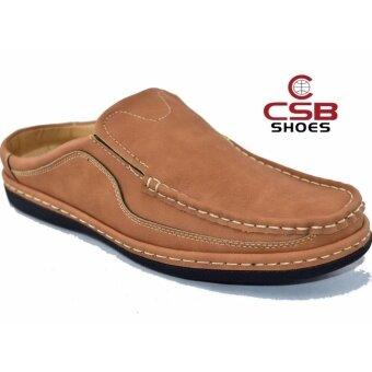 CSB รองเท้าหนังผู้ชาย CSB รุ่น CM444(สีแทน)