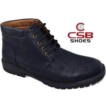 CSBรองเท้าหนังผู้ชาย หุ้มข้อ CSB รุ่น CM984 (สีดำ)