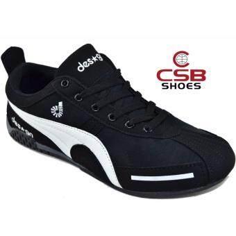 CSB Design รองเท้าผ้าใบผู้ชาย CSB Design รุ่นใหม่ DS9811 (สีดำขาว)