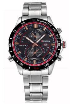 ราคา Curren นาฬิกาข้อมือผู้ชาย สีเงิน/ดำ สายสแตนเลส รุ่น C8149