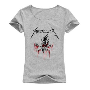 custom rock metallica womens fashion t shirts o neck tops for woman funny short tee shirt grey intl 1505931322 53890154 cc42d95174003be68288e05f60b2ef91 product หาซื้อที่นี่ Custom Rock Metallica Womens Fashion T shirts O Neck Tops for Woman Funny Short Tee Shirt grey