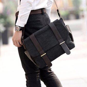 Allday CV13-Black กระเป๋าสะพายข้าง ผ้าแคนวาส สีดำ กระเป๋าผู้ชาย
