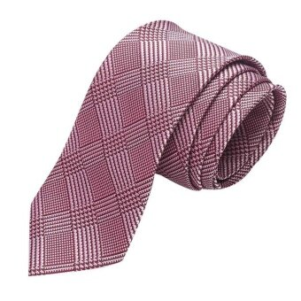Cyber Promotion Men Classic Striped/ Plaid Necktie for Formal Wedding Cocktail Party( Y91 ) - intl