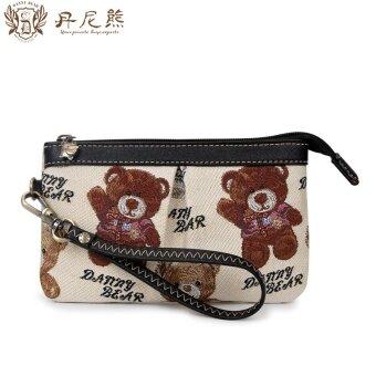 แดนหมี dbwb165059 งามหวานใหม่กระเป๋าเงินกระเป๋าคลัช (มีสีขาวและสีดำ)