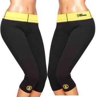 DIDO กางเกงเรียกเหงื่อ กางเกงออกกำลังกาย Hot Shapers แพคคู่ สีดำSize-XL