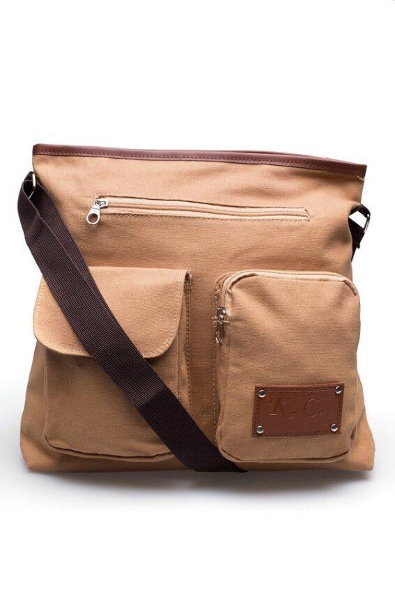 DM กระเป๋าสะพายข้าง  รุ่น  KCAJ Canvas 2B   (  สีดำ )