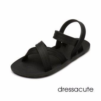 Dress A Cute รองเท้าแตะสวม ยางพารา แบบรัดส้น สีดำ รุ่น G-3612