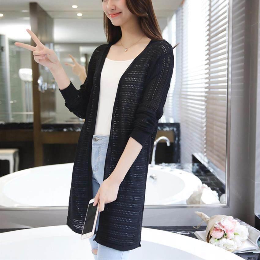 Dress Up House รหัส D524bk เสื้อคลุมตัวยาว ผ้าไหมพรมมีลาย ผ่าหน้า แขนยาว (สีดำ)