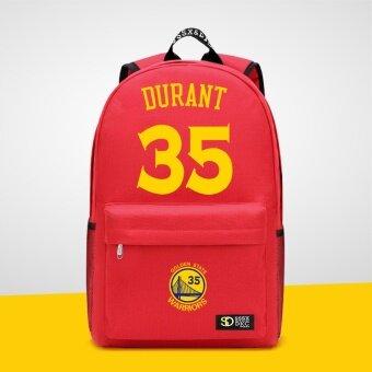 นักรบชายและหญิงนักเรียนมัธยมผ้าใบกระเป๋านักเรียนกระเป๋าเป้สะพายหลัง (สีแดง/Durant 01)