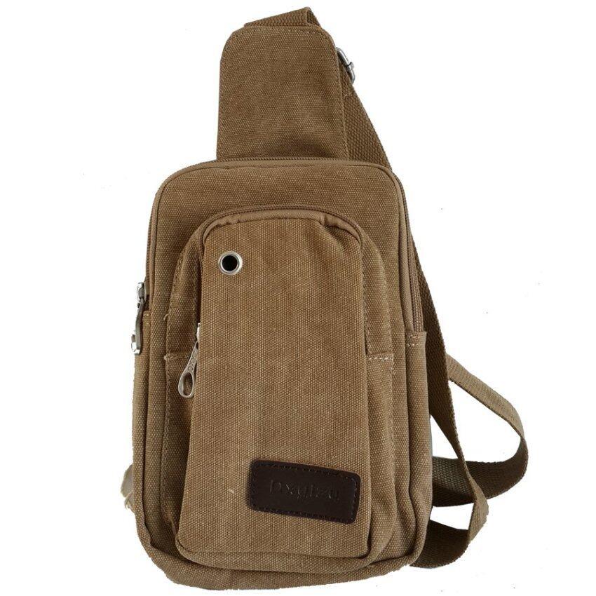 Dxyizu กระเป๋าสะพายไหล่ รุ่น 0314 ( สีกากี )