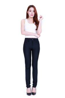 Eiffel Jeans กางเกงขายาว ทำงาน ทรงเดฟ OFF004 (สีดำ)