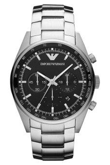 Emporio Armani นาฬิกาข้อมือผู้ชาย สีเงิน สายสเเตนเลส รุ่น AR5980