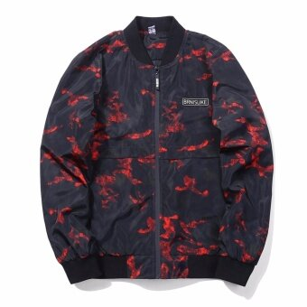 Encontrar Men Camouflage Bomber Jackets Street Style Clothing M-3XL(Red) - intl