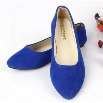 EP Women Fashion Flat Shoes Soft Spring Slip-Ons Plus Size-Dark Blue - intl