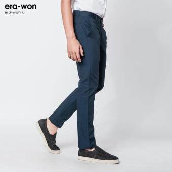 era-won กางเกงสแลคขายาว ทรงกระบอก era-won U กรมท่า(Navy) - 4