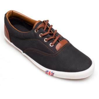 ESTHER รองเท้าผ้าใบแฟชั่นผู้ชาย รุ่น CK635 - BLACK (สีดำ)