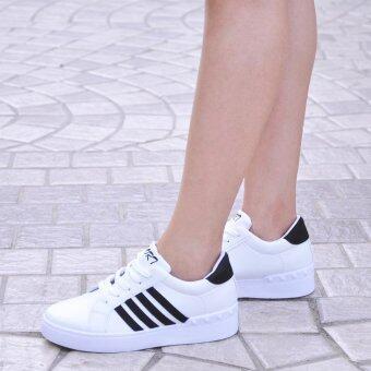 ESTHER รองเท้าผ้าใบผู้หญิง รุ่น KS302 - WHITE (สีขาว) (EU:36)