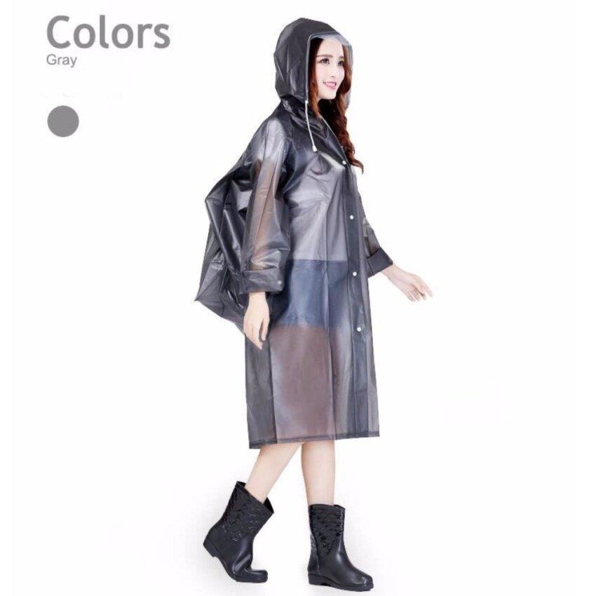 ชุดกันฝนผู้ใหญ่ EVA สีเทา ไซต์ M-XL # 0099