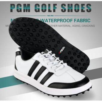 EXCEED รองเท้ากอล์ฟ PGM GOLF MEN SHOES (XZ021) WHITE-BLACK COLOUR SIZE EU:39 - EU:44 สีขาวแถบดำ
