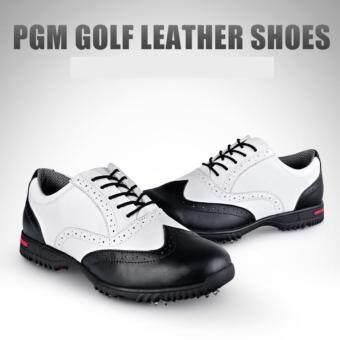 EXCEED รองเท้ากอล์ฟ PGM MEN GOLF SHOES XZ042 WHITE-BLACK COLOURSIZE EU:39 - EU:44 สีขาวแถบดำ