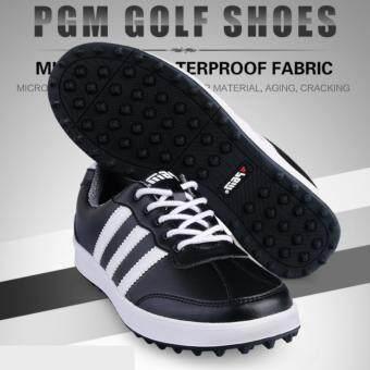 EXCEED รองเท้ากอล์ฟ PGM GOLF MEN SHOES (XZ021) BLACK-WHITE COLOUR SIZE EU:39 - EU:44 สีดำแถบขาว