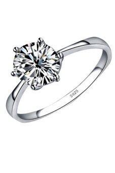 Fancyqube ใหม่เลียนแบบแฟชั่นมีแหวนเพชรเงินชุบแหวนแต่งงาน 4 ํแหวน-0254 เงินแหวนแหวนเงินแท้แหวนทอง