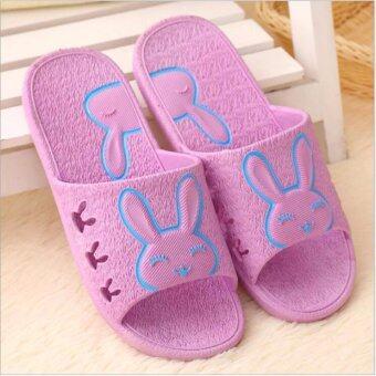 Fashion Sandals Rabbit Shoes\n(Purple)รองเท้าแตะแฟชั่นเกาหลีสำหรับผู้หญิง(สีม่วง)