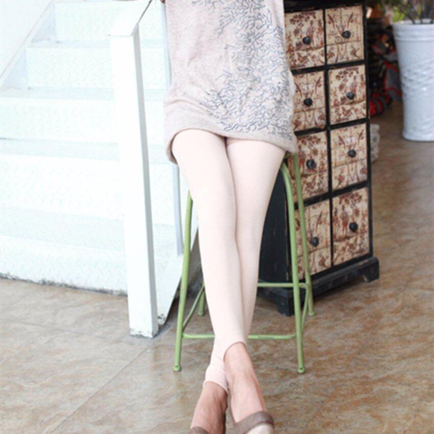 fashion Skinny pants กางเกงในเก้าจุดเล่น รุ่นหนามีซับกำมะหยี่เต็มตัว (สีขาว)