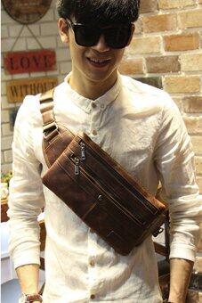 กระเป๋าสะพายไหล่ คาดอก รุ่น JDD63CO -Coffee