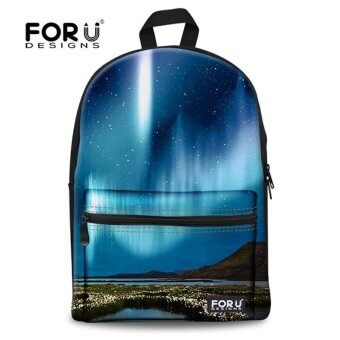 FORUDESIGNS Galaxy Printing Backpack for Teenage GirlsUniverse Space Kids Canvas BackpacksWomen Back Pack Children Bookbags - intl