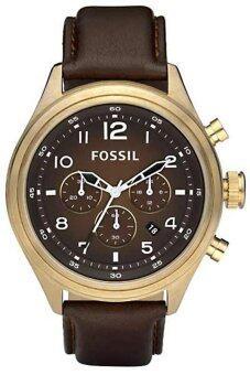 ราคา Fossil Vintage Bronze Men Watch Brown Leather Strap DE5002