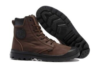 France Brand Palladiums Men's PAMPA SPORT CUFF WPN/PAMPA CUFF WP LUX/PAMPA SPORT CUFF WPS/Baggy Navy Brown Leather Gussett S Winter Boot Plus Velvet Ankle Boots Cowboy Motorcycle Boots Military Outdoor Work Martin Boots Fashion Sneakers - intl
