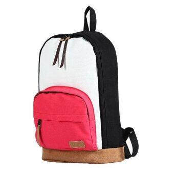 กระเป๋าเป้+กระเป๋าสะพาย+กระเป๋าสะพายหลัง+กระเป๋าแฟชั่นรุ่น105c (สีดำ-ชมพู)