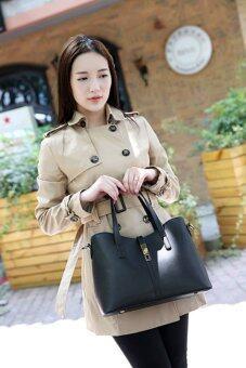 FTshop เซ็ต 3 ใบ กระเป๋าสะพายข้าง กระเป๋าสตางค์ผู้หญิงกระเป๋าแฟชั่น กระเป๋าถือผู้หญิงรุ่น40c(สีดำ) - 5