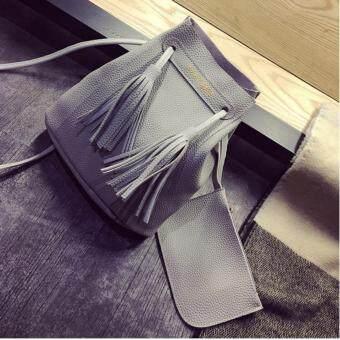 ขายด่วน กระเป๋าสะพายข้าง กระเป๋าสะพายไหล่ กระเป๋าถือ กระเป๋ากระเป๋าผู้หญิง กระเป๋าแฟชั่น กระเป๋า Tote Bag รุ่น 153c - สีเทา