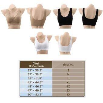 Genie Bra บรามหัศจรรย์ช่วยยกกระชับหน้าอก เหมาะกับผู้หญิงทุกวัยใส่ได้ทุกกิจกรรม Classic สีดำ, สีขาว, สีน้ำตาล 3 ชิ้น Size M 1 แพ็ค - 2