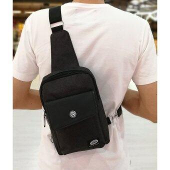 อยากขาย กระเป๋าสะพายข้าง คาดอก สไตล์เกาหลี-get675-ดำ