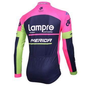 GF Lampre merida ชุดปั่นจักรยานลายทีม ชุดยาว (สีม่วง/ดำ) - 4