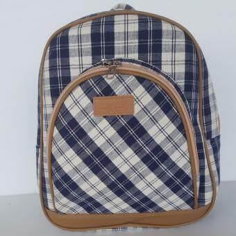 กระเป๋าผ้าขาวม้านุชบา รุ่น เป้โค้ง (Globe Bagpack)