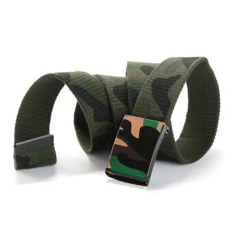 Gracefulvara Fashion Men&Women Outdoor Casual Belt Canvas NylonWaist Belt-Arm Green