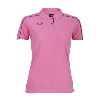 Grand sport เสื้อคอปกหญิงแกรนด์สปอร์ต (สีชมพู)