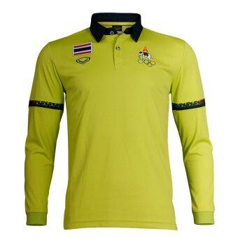 Grand sport เสื้อโปโลชายแขนยาวแกรนด์สปอร์ต (โอลิมปิค 2016) (สีเขียวอ่อน)